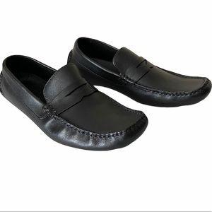 BNWOT ALFANI Mens Black Classic Loafer Shoes